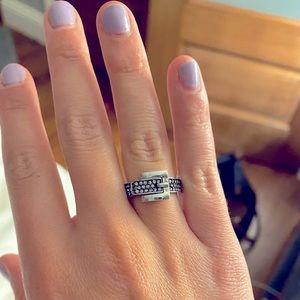 Michael Kors silver belt ring